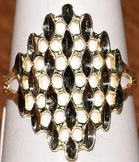 14k Yellow Gold Design Ring 1.5DWT