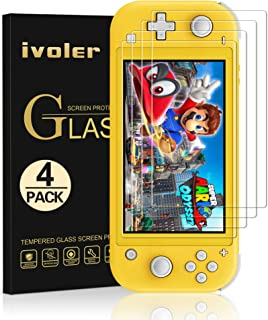 [4 Pack] Screen Protector Tempered Glass for Nintendo Switch Lite, iVoler Transparent HD,High Definition,Clear Anti-Scratc...