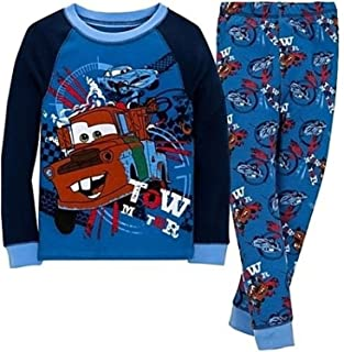 Disney Store Mickey Mouse 2 PC Holiday Long Sleeve Tight Fit Pajama Set Boy 5 6