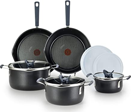 T-fal B210SA All-in- One Stackables Titanium Nonstick 10 Pieces Cookware Set