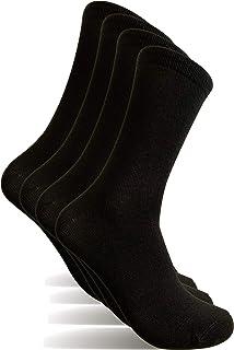 4 Pares Calcetines hombre, Talla 40-46 calcetines de vestir hombre