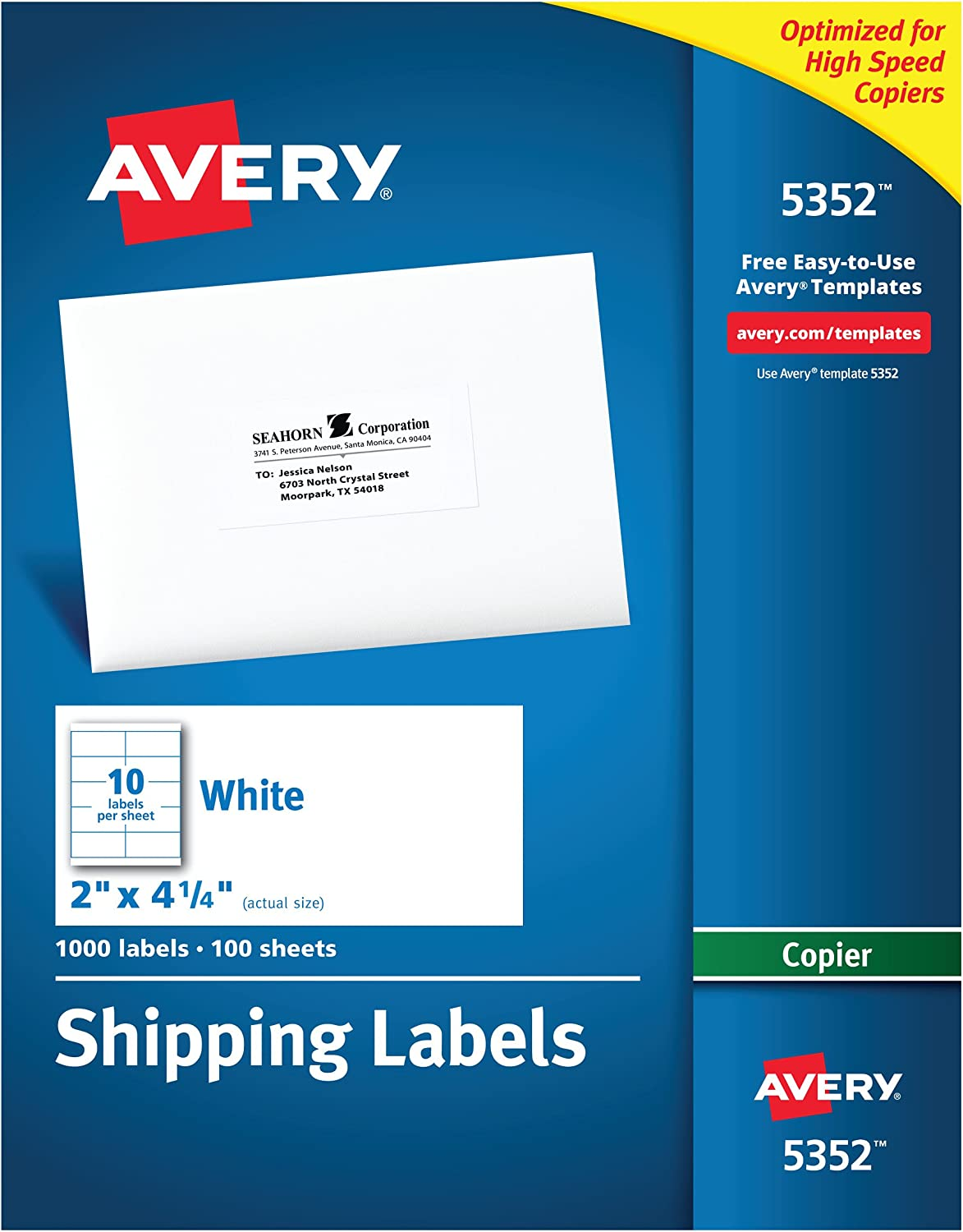 Avery Address Labels for Copiers 2 x Surprise price Box Max 51% OFF 5352 4-1 1 4 000 of