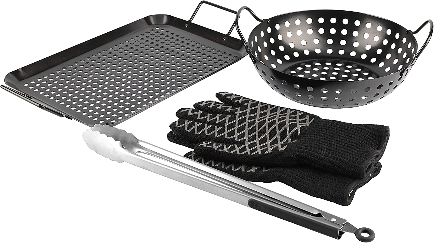 PitMaster Save money King Grill Topper All items in the store BBQ Grilling Pan 5- Black Tray Matte