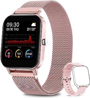 NAIXUES Smartwatch Mujer, Reloj Inteligente IP67 con Pulsómetro, Presión Arterial, Monitor de Sueño, 7 Modos de Deportes, ...