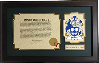 Joyner - Coat of Arms and Last Name History, 14x22 Inches Matted and Framed