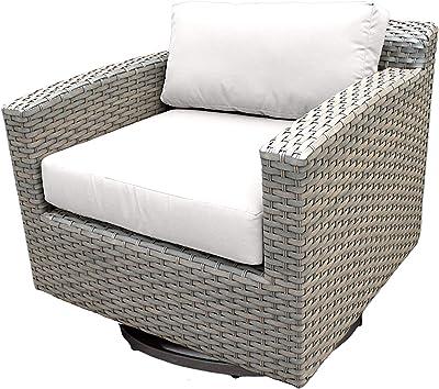 Amazon.com: TKC Venice Patio silla de Club de mimbre en ...