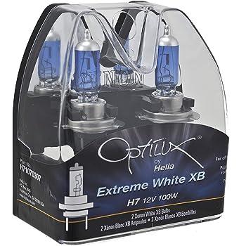 Optilux Hella H71070307 XB Series H7 Xenon White Halogen Bulbs, 12V, 100W, 2 Pack