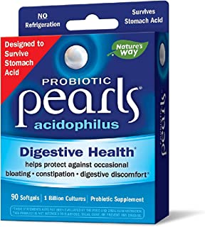Probiotic Pearls Acidophilus Once Daily Probiotic Supplement, 1 Billion Live Cultures, Survives Stomach Aci...