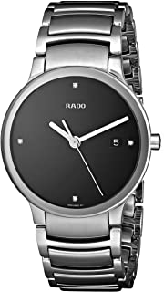 Rado Mens R30927713 Centrix Jubile Black Dial Watch