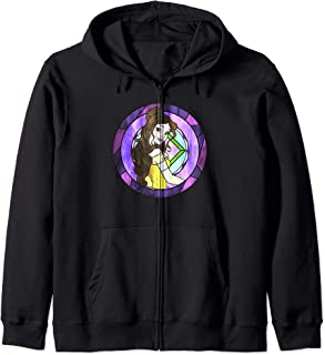 Disney Beauty And The Beast Belle Pose Neon Stained Glass Sweat à Capuche