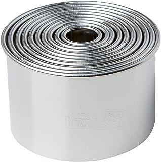 RBV Birkmann Cookie Cutter Set Easy Baking Ø1,5-7 cm 10 pcs, Stainless Steel, Silver, 7 x 7 x 4.5 cm