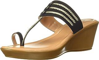 BATA Women's Kolapuri Wedge Thong Slippers