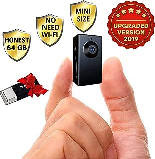 Spy Camera no Wi-Fi Needed - Hidden Camera Motion Activated - Mini Body Camera - Nanny Hidden Small Cam - Tiny Spy Hidden Camera - Spy Hidden Cameras for Home - Easy to Use Portable Hidden Recorder