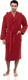 TowelSelections Men's Robe, Turkish Cotton Hooded Terry Bathrobe, Made in Turkey