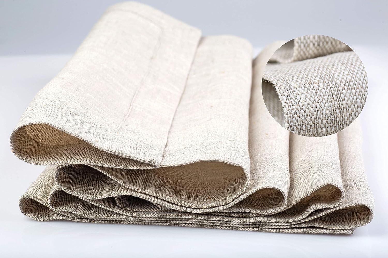 ZeleNava Natural Linen Table Runner 108 Inches Weekly update Regular discount Cream Long