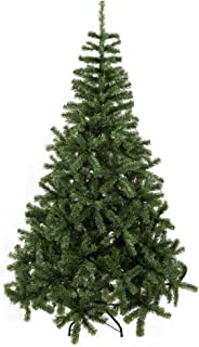 ECOLINEAR Artificial Christmas Tree Xmas Pine Tree Eco-Friendly Decorations w/Solid Metal Base (Green, 5')