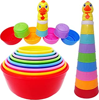 Baby Stack up and Cups | Indoor, Outdoor, Bathtub, and Beach Fun Toy Multi Colored
