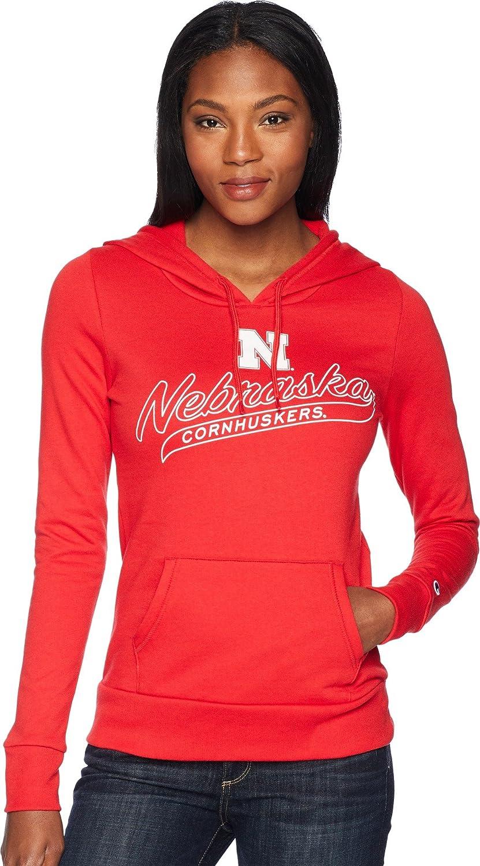 Champion College Womens Nebraska Cornhuskers Eco University Fleece Hoodie