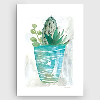 WEXFORD HOME ' ' Summer Cactus' Gallery Wrapped Canvas Wall Art, 24x32,