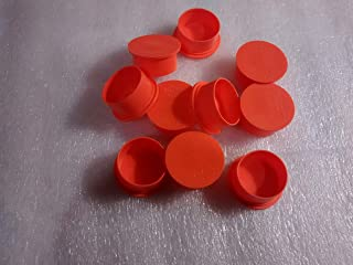 Cap, Polyethylene, EC Series, Red, Min. Qty 500 (500 pieces)