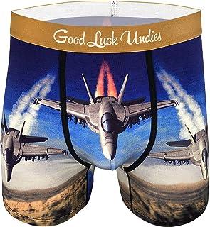 Good Luck Undies Men's F/A-18 Hornet Combat Jet Boxer Brief Underwear