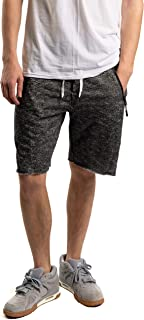 Men's Gym Shorts Classic 9 Inch Inseam French Terry Short W/Zipper Pockets & Adjustable Waistband