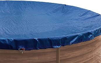 GRASEKAMP Qualität seit 1972 84514 GRASEKAMP Calidad Desde 1972 Cubierta para Piscina Ovalada 737 x 360 cm Azul Real Medidas 810 x 460 cm Verano Invierno, 737x360cm Oval