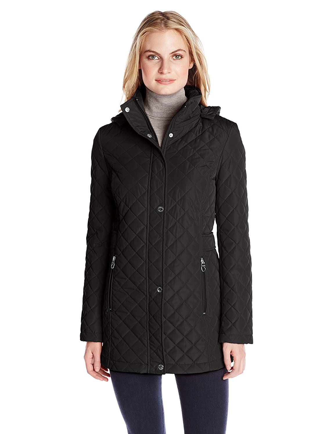 Calvin Klein Women's Classic Quilted Jacket with Side Tabs