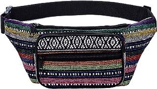 Kayhoma Boho Fanny Pack Stripe Festival Bum Bags Travel Hiking Hip Bum Waist Bag