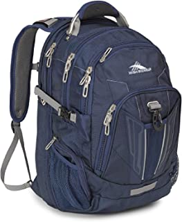 High Sierra XBT TSA Laptop Backpack - Ideal for High School and College Students - Fits Most 17-inch Laptop Models, True Navy/Charcoal