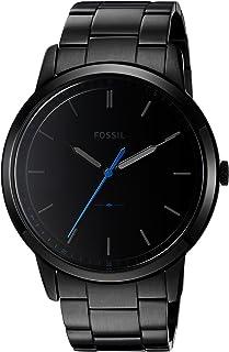 Fossil Mens The Minimalist Quartz Stainless Steel Dress Watch, Color: Black (Model: