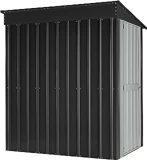 Globel GL4002 Lean to Storage Shed, 4' x 6', Gray, White