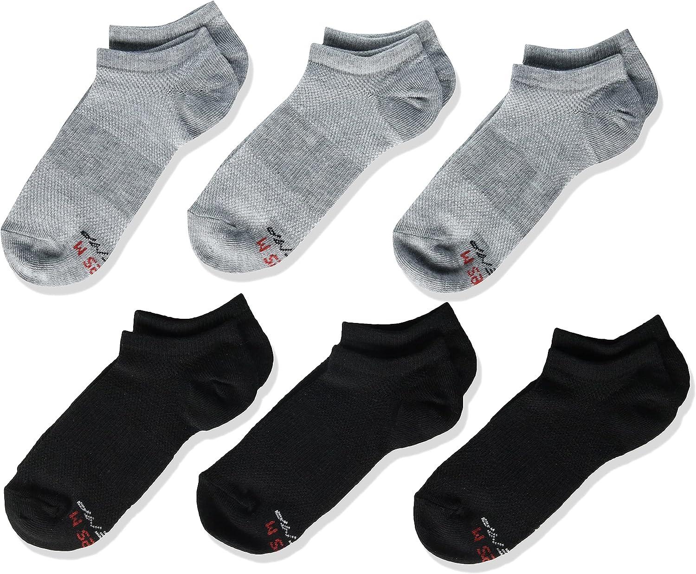 Hanes Boys' Performance X-Temp 6-Pair Super No Show Socks