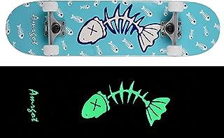 Amrgot Skateboards Pro 31 inches Complete Night Light Skateboards for Teens, Beginners, Girls,Boys,Kids,Adults