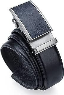 棘轮真皮皮带自动扣 - 3.81cm 宽皮带 3 种颜色男士 大号加长