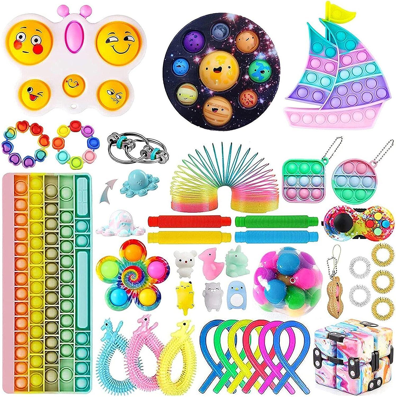 Soft Fidget Toy Pack,Fidget Packs Set, Fidget Toys Pack for Kids