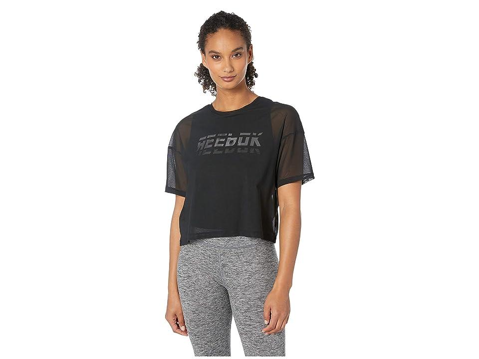 Reebok Workout Ready Meet You There Mesh Layer Piece (Black) Women