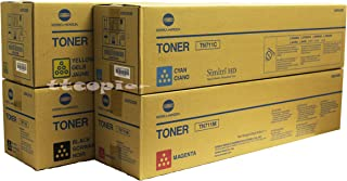 Genuine Konica Minolta TN-711 CMYK Set for Bizhub C754 C654 A3VU-SET