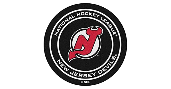 FANMATS NHL New Jersey Devils Nylon Face Hockey Puck Rug
