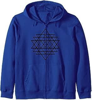 Sacred Geometry Zip Hoodie - Geometric Zip Hoodie