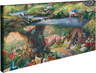 Thomas Kinkade Disney Alice in Wonderland 16 x 31 Gallery Wrapped Canvas