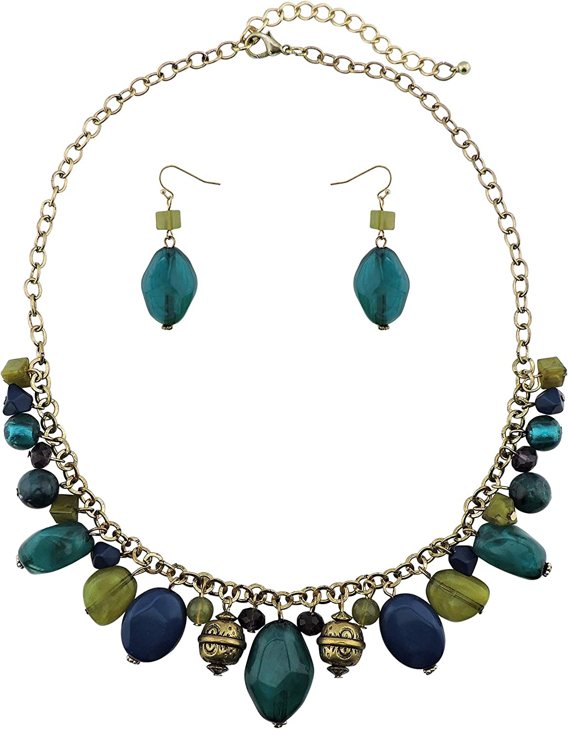 Bocar Fashion Newest Chain Collar Pendant Beads Necklace