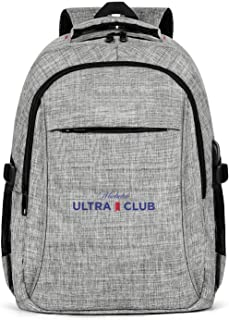 Travel Laptop Backpack Michelob-Ultra-Club- Large Computer Backpack for Women Men School Backpacks Grey