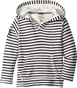 Lucky Brand Kids - V-Neck Striped Hoodie (Little Kids/Big Kids)