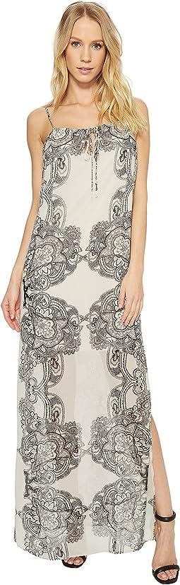 American Rose - Scarlett Spaghetti Strap Paisley Maxi Dress