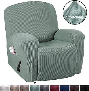 H.VERSAILTEX Stretch Recliner Slipcovers 1-Piece Durable Soft High Stretch Jacquard Sofa Furniture Cover Form Fit Stretch Stylish Recliner Cover/Protector (Recliner, Sage)
