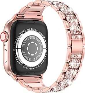 LELONG for Apple Watch Band 38mm 40mm 42mm 44mm SE Series 6 Series 5 4 3 2 1 , Bling Replacement Bracelet iWatch Band, Dia...