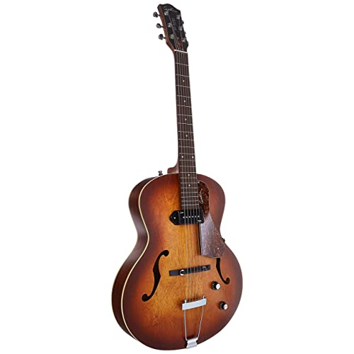Godin 5th Avenue Kingpin P90 Jazz-Style Acoustic Electric Guitar Bundle , Cognac Burst