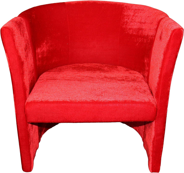 ORE International HB4529 Microfiber Folding Chair, Red