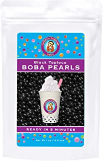 Boba / Black Tapioca Pearls By Buddha Bubbles Boba 1 Kilo (2.2 Pounds) | (1000 Grams)